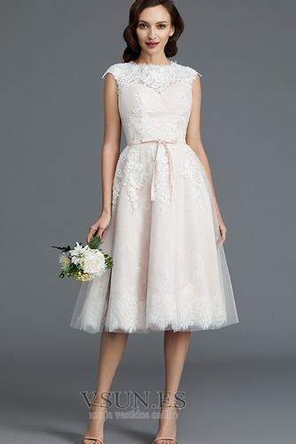 Vestido de novia Encaje Cremallera Verano Glamouroso Natural Falta - Página 1