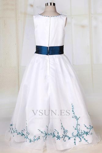 Vestido niña ceremonia Blanco Organza Romántico Corte princesa Arco Acentuado - Página 4