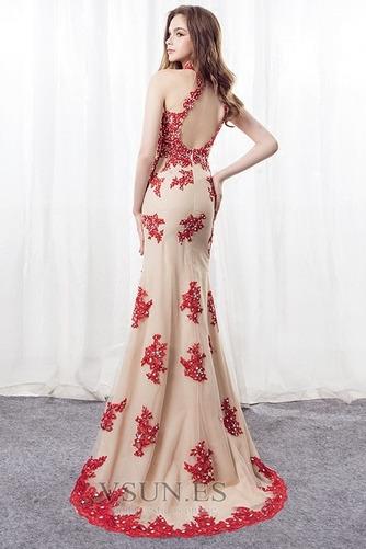 Vestido de noche Corte Sirena primavera Apliques Pera Escote con cuello Alto - Página 2