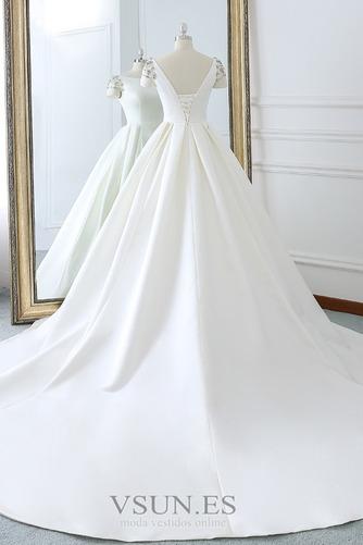 Vestido de novia Iglesia Natural primavera Falta Espalda Descubierta - Página 4