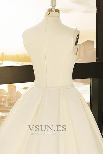Vestido de novia Playa Escote en V Arco Acentuado Corte-A Cremallera - Página 4