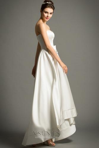 Vestido de novia Playa Cremallera Escote Corazón Lazos Natural Falta - Página 5