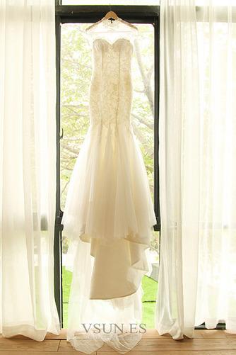 Vestido de novia Apliques Cola Corte Formal Cremallera Corpiño Acentuado con Perla - Página 6