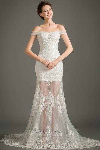 Vestido de novia Escote Corazón Sin mangas Cola Capilla Cremallera Natural - Página 4