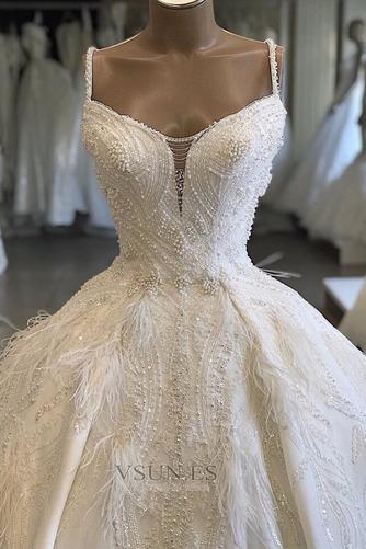 Vestido de novia Sala Natural Pera Espectaculares Escote de Tirantes Espaguetis - Página 2