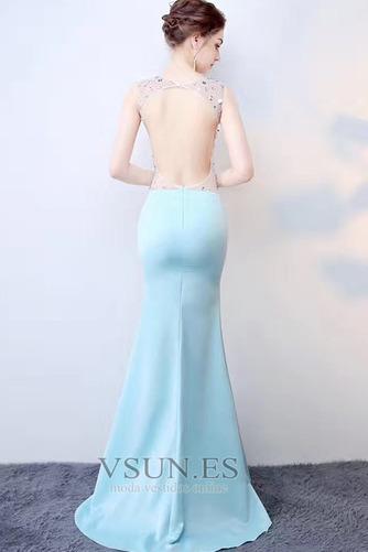 Vestido de fiesta Abalorio Corte Recto Transparente Espalda Descubierta - Página 2