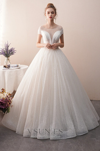 Vestido de novia Colores Sin mangas Estrellado Otoño Corte-A Hasta el suelo - Página 3