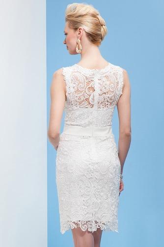 Vestido de novia Alto cubierto Natural Encaje Informal Escote redondo - Página 2