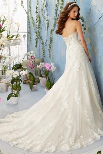 Vestido de novia Elegante primavera Corte-A Sala Escote Corazón Apliques - Página 2