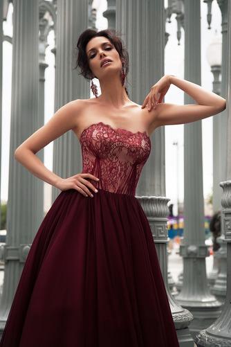 Vestido de novia Encaje Sin mangas Fuera de casa Cordón Natural Corte-A - Página 3