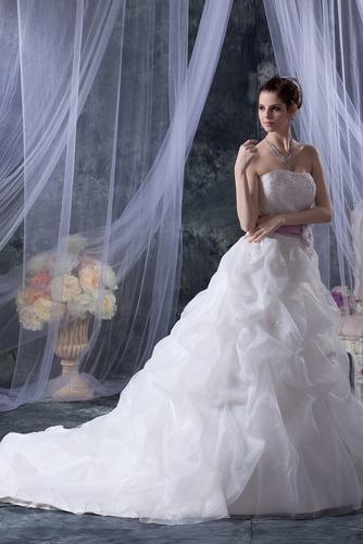 Vestido de novia Sin tirantes Corte-A Iglesia largo Sin mangas Encaje - Página 5
