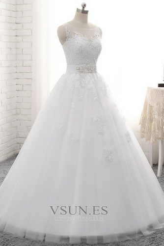 Vestido de novia Sin tirantes Natural Cordón Capa de encaje Encaje Fajas - Página 2