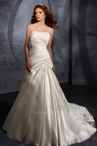 Vestido de novia Blusa plisada Reloj de Arena Espalda medio descubierto - Página 1