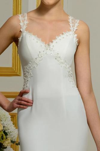 Vestido de novia Tallas pequeñas Playa Volantes Adorno Tiras anchas - Página 4