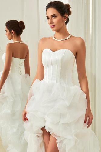 Vestido de novia Elegante Cola Capilla Triángulo Invertido Natural Satén - Página 3