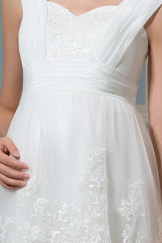 Vestido de novia Reloj de Arena Tiras anchas Fuera de casa Encaje Cremallera - Página 4