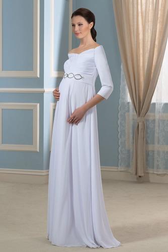 Vestido de novia Elegante Cola Barriba Playa Escote con Hombros caídos - Página 2