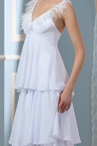 Vestido de novia Embarazadas Sin mangas Cola Barriba Escote en V Playa - Página 4