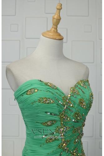 Vestido de noche Gasa Estrellado Colores Cristal Corpiño Acentuado con Perla - Página 4
