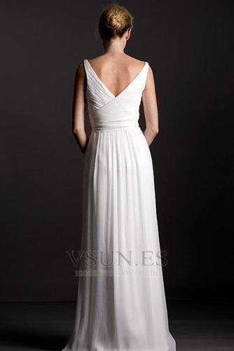 Vestido de dama de honor Playa Corte Recto Diosa vestido de novia gris claro - Página 2