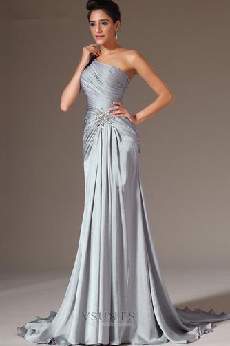 Vestido de noche Elegante Espalda medio descubierto Un sólo hombro Natural - Página 2