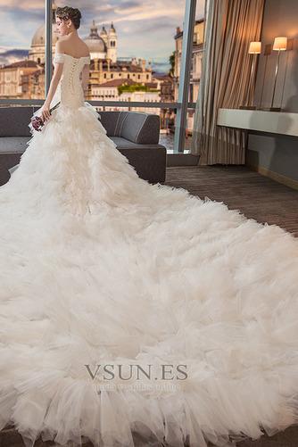 Vestido de novia Cola Real Falta Natural Cordón Camiseta Corte-A - Página 4
