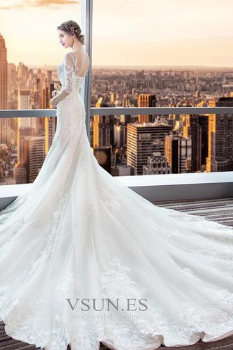 Vestido de novia Corte Sirena Espalda Descubierta Elegante Playa Capa de encaje - Página 2