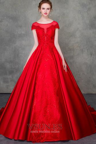 Vestido de novia Corte-A Triángulo Invertido Escote con Hombros caídos - Página 2