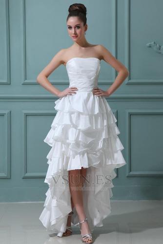 Vestido de novia Alto Bajo Cascada de volantes Fuera de casa Moderno - Página 2