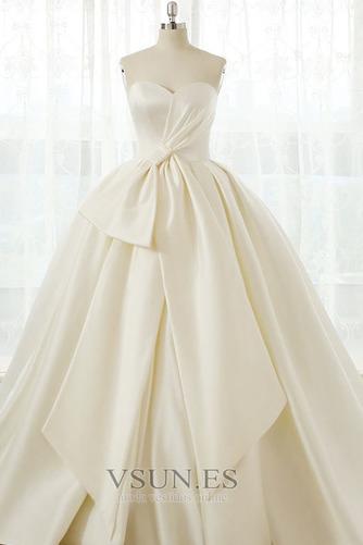 Vestido de novia Tallas grandes Cordón Natural Escote Corazón Otoño - Página 1