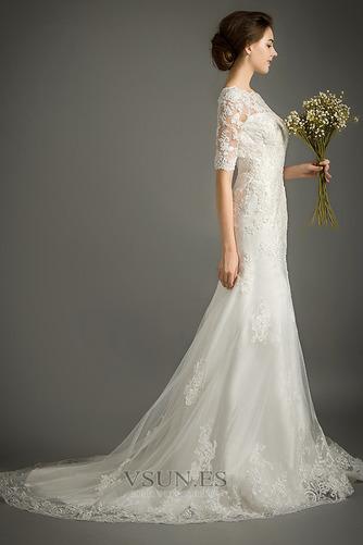 Vestido de novia Encaje Cremallera Triángulo Invertido Sala Corte Sirena - Página 3
