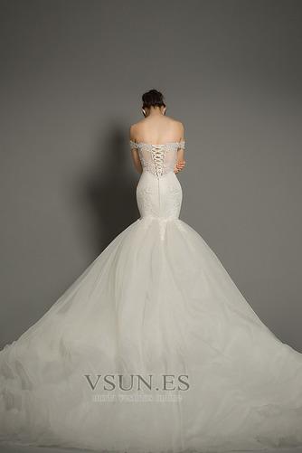 Vestido de novia Corte Sirena tul Iglesia Formal Falta Cordón - Página 3