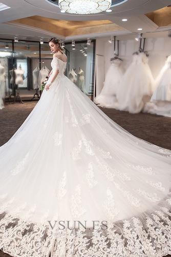 Vestido de novia Cola Real Triángulo Invertido Cordón Capa de encaje - Página 2