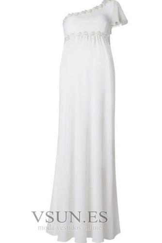 Vestido de novia Embarazadas Asimétrico Estilo Hasta el suelo Fuera de casa - Página 3