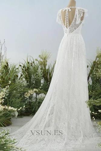 Vestido de novia Escote en V Natural Espalda Descubierta Encaje Hasta el suelo - Página 2