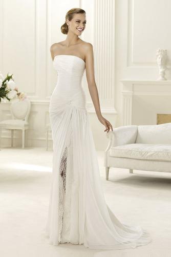 Vestido de novia Playa Apertura Frontal Espalda Descubierta Sencillo - Página 1