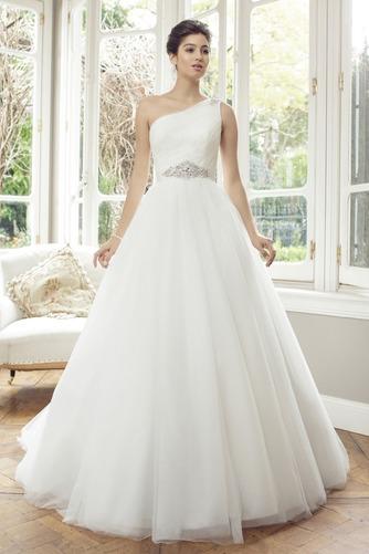 Vestido de novia Corte princesa Manga corta Sala Natural Cremallera - Página 1