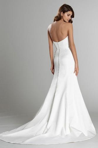 Vestido de novia Sin mangas largo Espalda Descubierta Natural Satén - Página 4