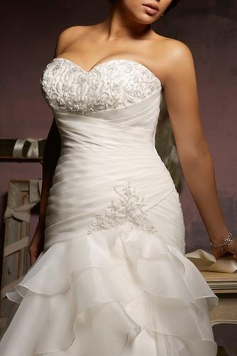 Vestido de novia Corte Sirena Cintura Baja Sala Cola Capilla Escote Corazón - Página 2