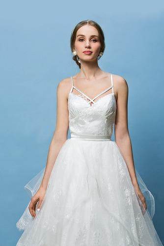 Vestido de novia Corte Recto Espalda Descubierta Glamouroso Escote de Tirantes Espaguetis - Página 6