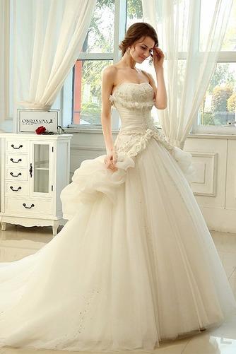 Vestido de novia Sin tirantes Sin mangas Asimètrico Apertura Frontal - Página 3