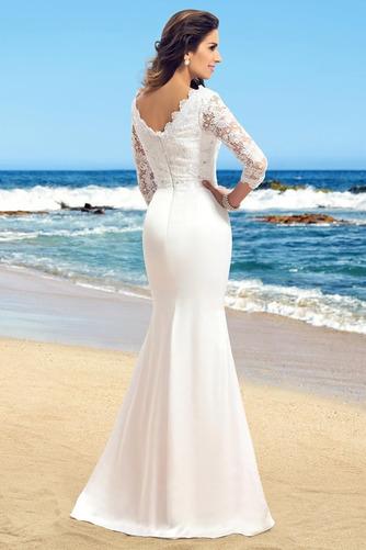 Vestido de novia Sencillo Encaje Cremallera Falta Capa de encaje Corte Recto - Página 2