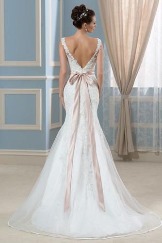 Vestido de novia Corte Recto Satén Arco Acentuado Cristal Espalda Descubierta - Página 2