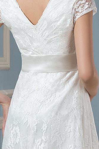 Vestido de novia Elegante Mangas Illusion Tallas grandes Imperio primavera - Página 5