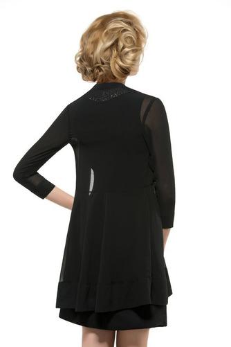 Vestido de madrina Dobladillos Gasa Joya Camiseta Corte-A Moderno - Página 2