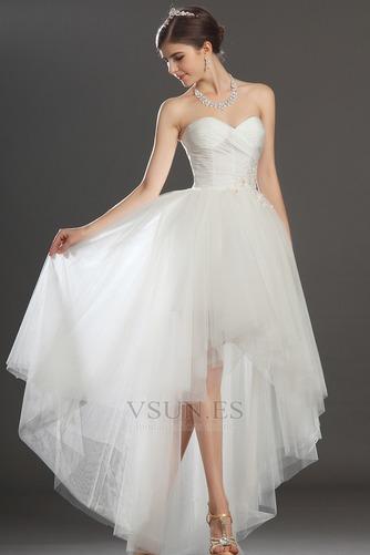 Vestido de novia Escote Corazón Apertura Frontal Asimétrico Dobladillo - Página 2