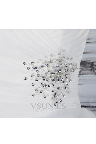 Vestido de novia Fuera de casa Exclusivo Plisado Asimétrico Dobladillo - Página 6