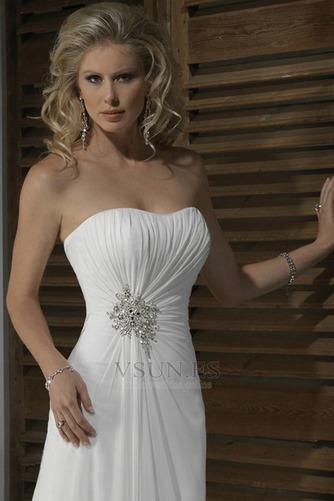 Vestido de novia Corte Recto Satén Escote Corazón Espalda medio descubierto - Página 3