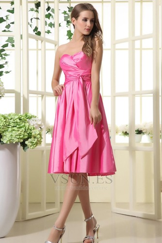 Vestido de dama de honor Oscilación 2015 Corte-A Volantes Adorno Corto Verano - Página 2