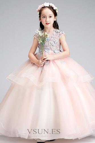 Vestido niña ceremonia Joya Natural Falta Formal Cremallera Apliques - Página 1